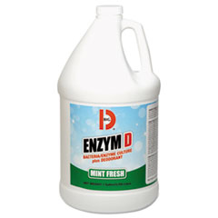 Big D Industries Enzym D Digester Deodorant, Mint, 1 gal, Bottle, 4/Carton