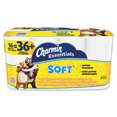 Charmin® Essentials Soft Bathroom Tissue, Septic Safe, 2-Ply, White, 4 x 3.92, 200/Roll, 16 Roll/Pack