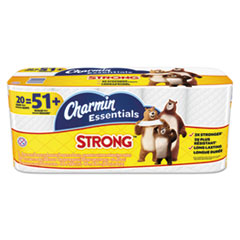 Charmin® Essentials Strong Bathroom Tissue, 1-Ply, 4 x 3.92, 300/Roll, 20 Roll/Pack PGC96896