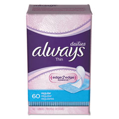 Always® Dailies Thin Liners, Regular, 60/Pack