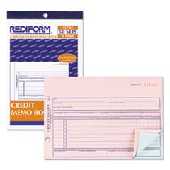 Rediform® Credit Memo Book, 5 1/2 x 7 7/8, Carbonless Triplicate, 50 Sets/Book