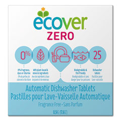 Ecover™ Auto Dishwashing Tablets, Unscented, 25/Box, 12/Carton
