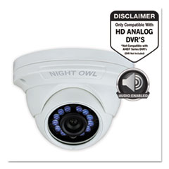 Add-On HD Wired Audio-Enabled Security Dome Camera, 1080p Resolution