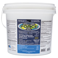 2XL FORCE Disinfecting Wipes, 8 x 6, White, 900 Wipes/Bucket, 2 Buckets/Carton