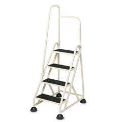 "Cramer® Stop-Step Ladder, 66.25"" Working Height, 300 lbs Capacity, 4 Step, Beige"