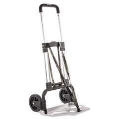 bugatti Portable Slide-Flat Cart, 275lbs, 18 3/4 x 19 x 40, Black/Charcoal