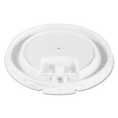Dart® Lift Back and Lock Tab Cup Lids for Foam Cups, Fits 10 oz Trophy Cups, White, 2000/Carton