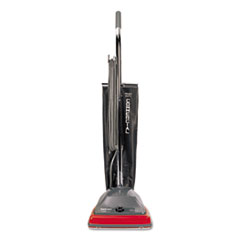 Commercial Lightweight Upright Vacuum, Bag-Style, 12lb, Gray/Red
