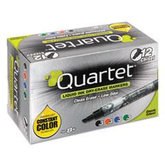 Quartet® EnduraGlide Dry Erase Marker, Chisel Tip, Assorted Colors, 12/Set