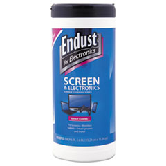 Endust® Antistatic Cleaning Wipes, Premoistened, 70/Canister