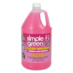 Simple Green® Clean Building Bathroom Cleaner Concentrate, Unscented, 1 gal Bottle, 2/Carton