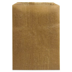 "HOSPECO® Napkin Receptacle Liners, 7.2"" x 3"", Brown, 500/Carton"