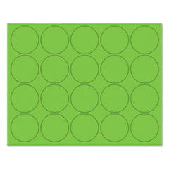 """MasterVision® Interchangeable Magnetic Characters, Circles, Green, 3/4"""" Dia., 20/Pack"""