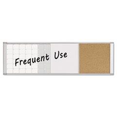 Magnetic Calendar Combo Board, 48 x 18, Aluminum Frame