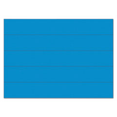 """MasterVision® Dry Erase Magnetic Tape Strips, Blue, 6"""" x 7/8"""", 25/Pack"""