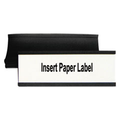 "Magnetic Card Holders, 6""w x 2""h, Black, 10/Pack"