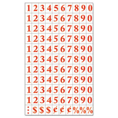 """MasterVision® Interchangeable Magnetic Characters, Numbers, Red, 3/4""""h"""