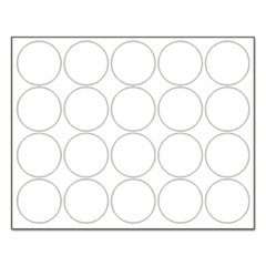 """MasterVision® Interchangeable Magnetic Characters, Circles, White, 3/4"""" Dia., 20/Pack"""