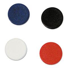 """MasterVision® Interchangeable Magnetic Characters, Circles, Assorted, 3/4"""" Dia, 10/Pack"""
