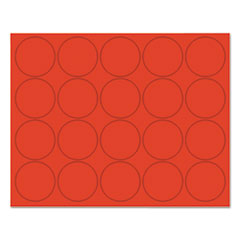 """MasterVision® Interchangeable Magnetic Characters, Circles, Red, 3/4"""" Dia., 20/Pack"""