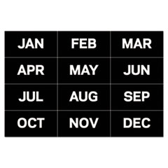 """MasterVision® Interchangeable Magnetic Board Accessories, Months of Year, Black/White, 2"""" x 1"""""""