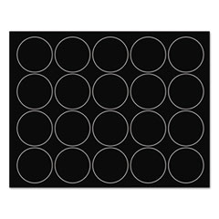 """MasterVision® Interchangeable Magnetic Characters, Circles, Black, 3/4"""" Dia., 20/Pack"""