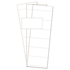"Data Card Replacement, 3""w x 1 3/4""h, White, 500/PK"