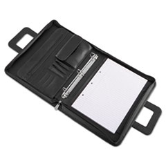 Universal® Zip-Around Padfolio, Vinyl, 14 1/2 x 2 1/2 x 11 1/2, Black
