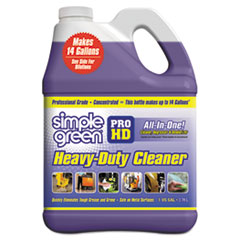 Simple Green® Pro HD Heavy-Duty Cleaner, Unscented, 1 gal Bottle, 4/Carton