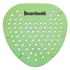 Boardwalk® Gem Urinal Screen, Lasts 30 Days, Green, Herbal Mint Fragrance, 12/Box