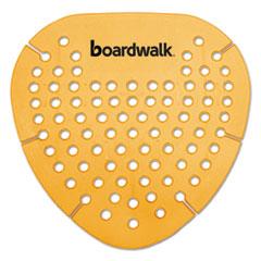 Boardwalk® Gem Urinal Screen, Lasts 30 Days, Orange, Mango Fragrance, 12/Box