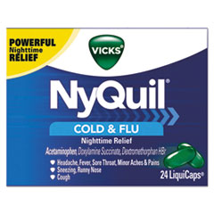 Vicks® NyQuil Cold and Flu Nighttime LiquiCaps, 24/Box