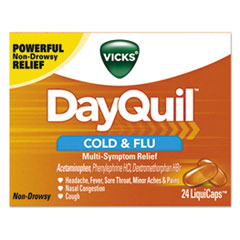 Vicks® DayQuil Cold and Flu LiquiCaps, 24/Box