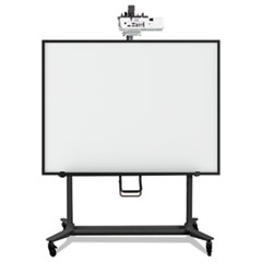 MasterVision® Interactive Board Mobile Stand With Projector Arm, 76w x 26d x 80h, Black