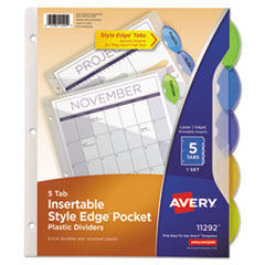 Avery® Insertable Style Edge™ Tab Plastic Dividers Thumbnail