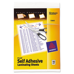 Avery® Clear Self-Adhesive Laminating Sheets Thumbnail