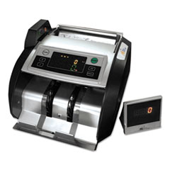 Elect. Bill Ctr w/Counterfeit Detection,1000 Bills/Min., 13x91/2x7 9/10, BK/SR