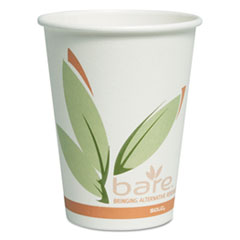 Dart® Bare by Solo Eco-Forward Recycled Content PCF Paper Hot Cups, 12 oz, 300/Carton