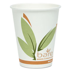 Dart® Bare by Solo Eco-Forward Recycled Content PCF Paper Hot Cups, 8 oz, 500/Carton