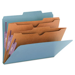 Smead® Six-Section Pressboard Top Tab Pocket-Style Classification Folders with SafeSHIELD® Coated Fasteners