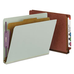 Smead® End Tab Pressboard Classification Folders With SafeSHIELD® Coated Fasteners