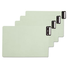 Smead® 100% Recycled End Tab Pressboard Guides with Metal Tabs