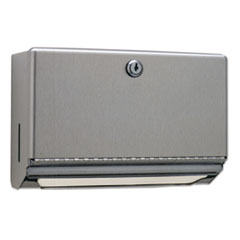 Bobrick Surface-Mounted Paper Towel Dispenser, 10.75 x 4 x 7.06, Stainless Steel
