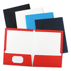 Universal® Laminated Two-Pocket Folder