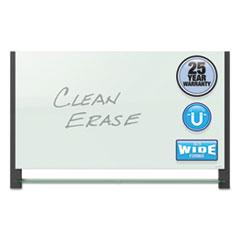 Quartet® Evoque™ Magnetic Glass Marker Board with Black Aluminum Frame Thumbnail