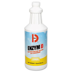 Big D Industries Enzym D Digester Liquid Deodorant, Lemon, 32oz, 12/Carton