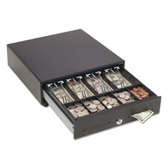 SteelMaster® Touch Release Locking Cash Drawer w/Spring-Loaded Bill Weights, Black