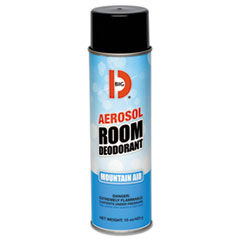 Big D Industries Aerosol Room Deodorant, Mountain Air Scent, 15 oz Can, 12/Box