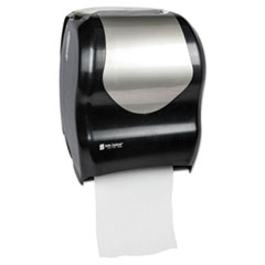 San Jamar® Tear-N-Dry Touchless Roll Towel Dispenser, 16.75 x 10 x 12.5, Black/Silver