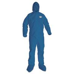 KleenGuard* A20 Breathable Particle Protection Coveralls, X-Large, Blue, 24/Carton KCC58524